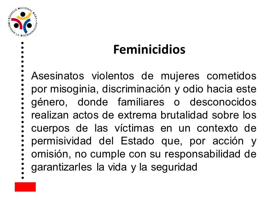 Asesinatos violentos de mujeres cometidos por misoginia, discriminación y odio hacia este género, donde familiares o desconocidos realizan actos de ex