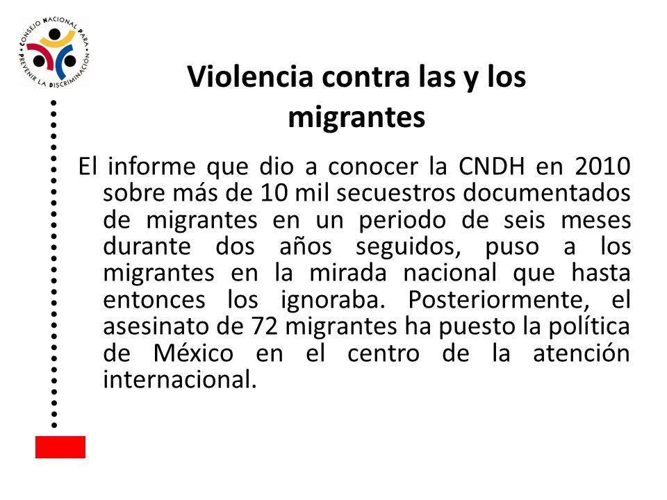 El informe que dio a conocer la CNDH en 2010 sobre más de 10 mil secuestros documentados de migrantes en un periodo de seis meses durante dos años seg