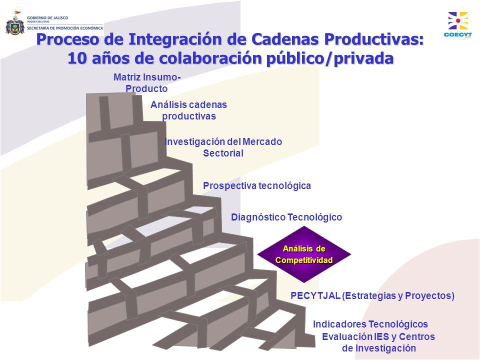 Prospectiva tecnológica Matriz Insumo- Producto Investigación del Mercado Sectorial Análisis cadenas productivas Análisis de Competitividad Evaluación