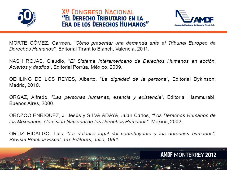 42 MORTE GÓMEZ, Carmen, Cómo presentar una demanda ante el Tribunal Europeo de Derechos Humanos