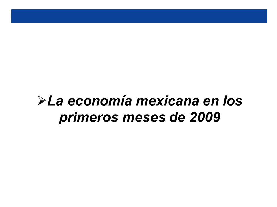 La economía mexicana en los primeros meses de 2009