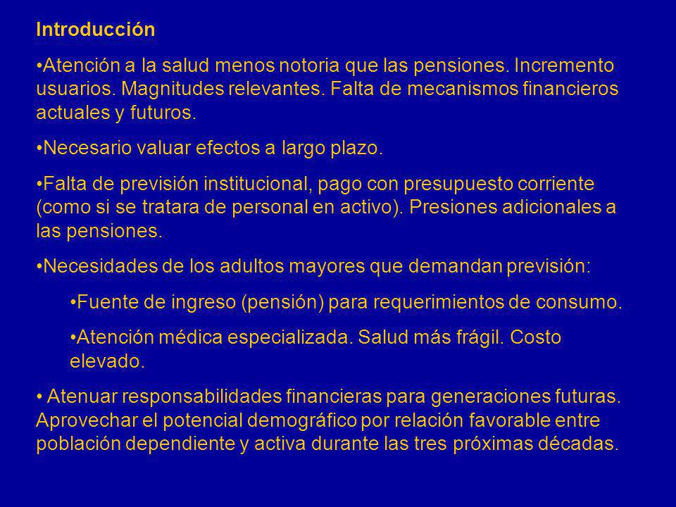 Porcentaje de la población nacional anciana que cuenta con servicios de salud por parte de alguna institución de seguridad social Fuente: Elaboración propia a partir de INEGI-Conteo de Población 2005.
