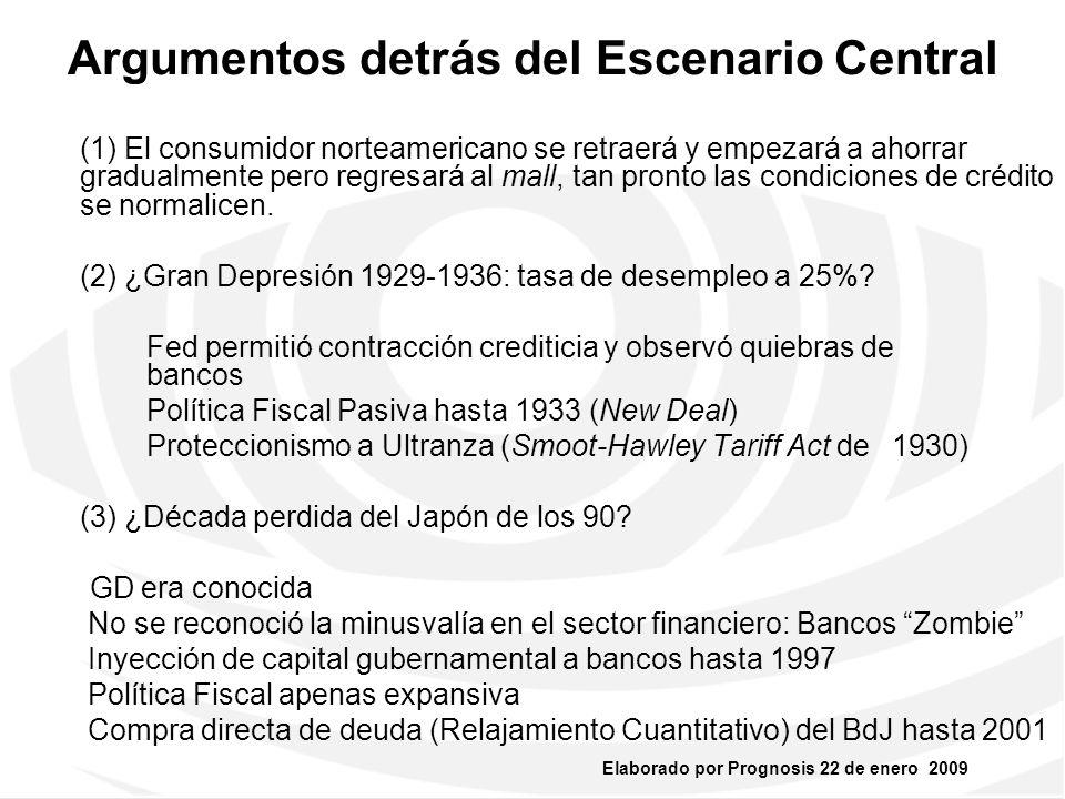 Elaborado por Prognosis 22 de enero 2009 2. ECONOMÍA DE EUA Y CONTEXTO GLOBAL