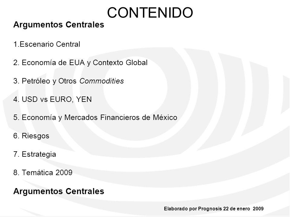 Elaborado por Prognosis 22 de enero 2009 Argumentos Centrales Severa Recesión Cíclica no Depresión Secular.