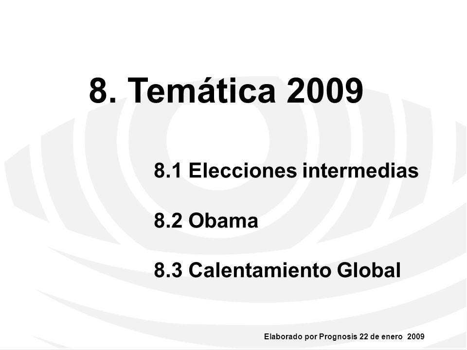 Elaborado por Prognosis 22 de enero 2009 8.1. Elecciones Intermedias 5 Julio 2009