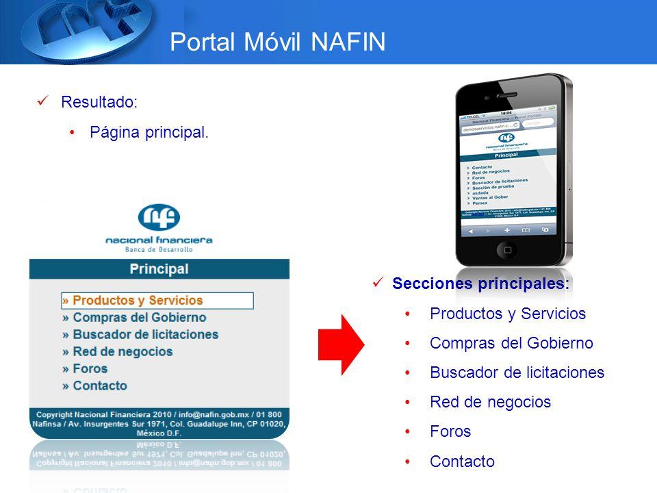 Dirección de Desarrollo de ProductoMercadotecnia & Internet Resultado: Página principal.