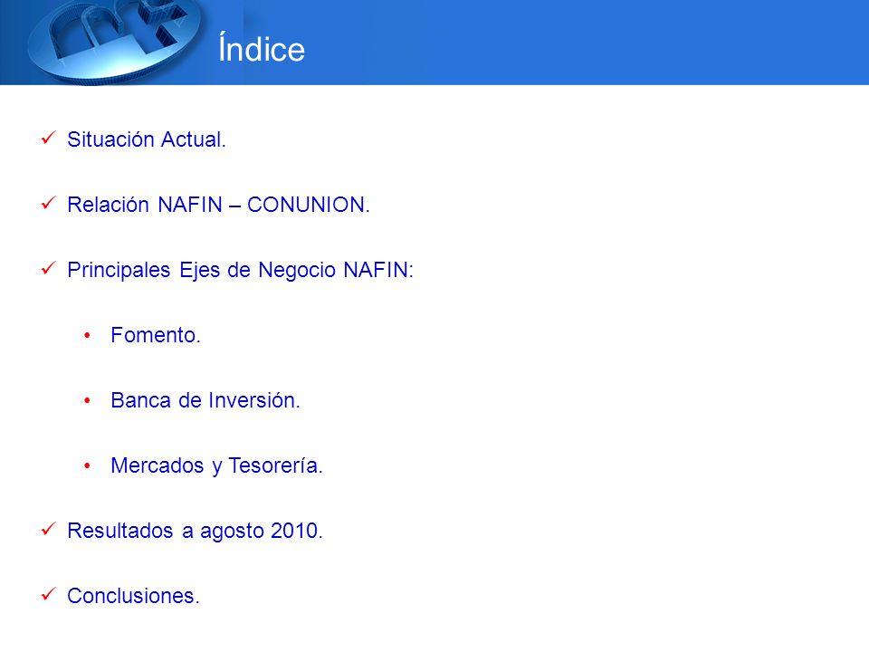 Índice Situación Actual. Relación NAFIN – CONUNION.