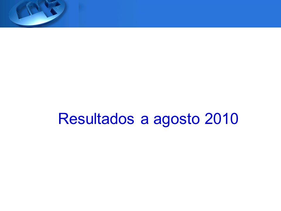 Resultados a agosto 2010