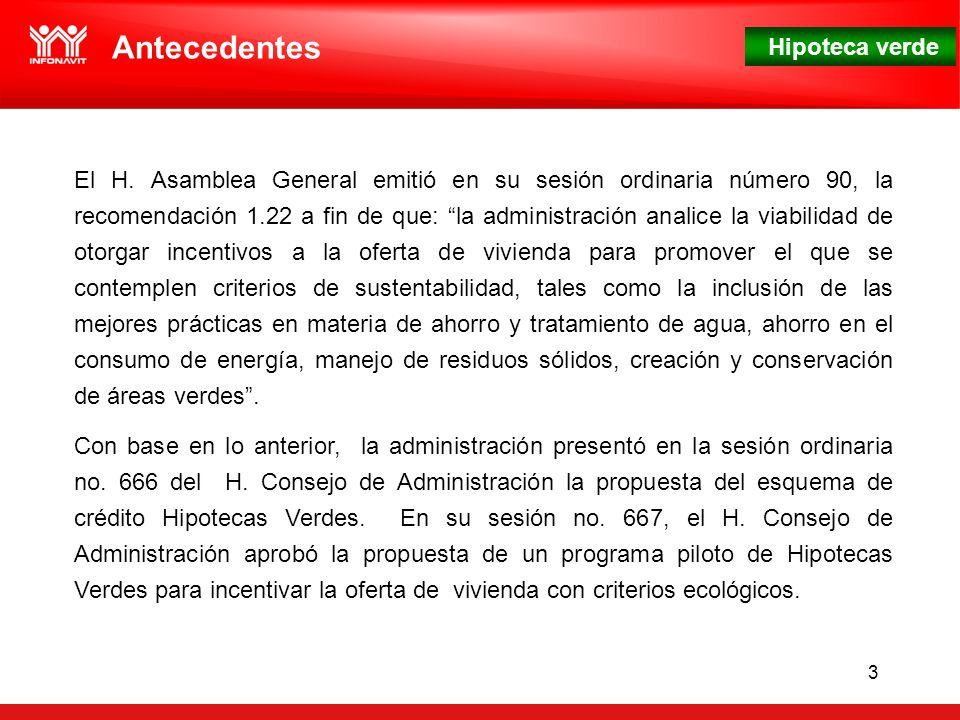 Hipoteca verde 3 Antecedentes El H.