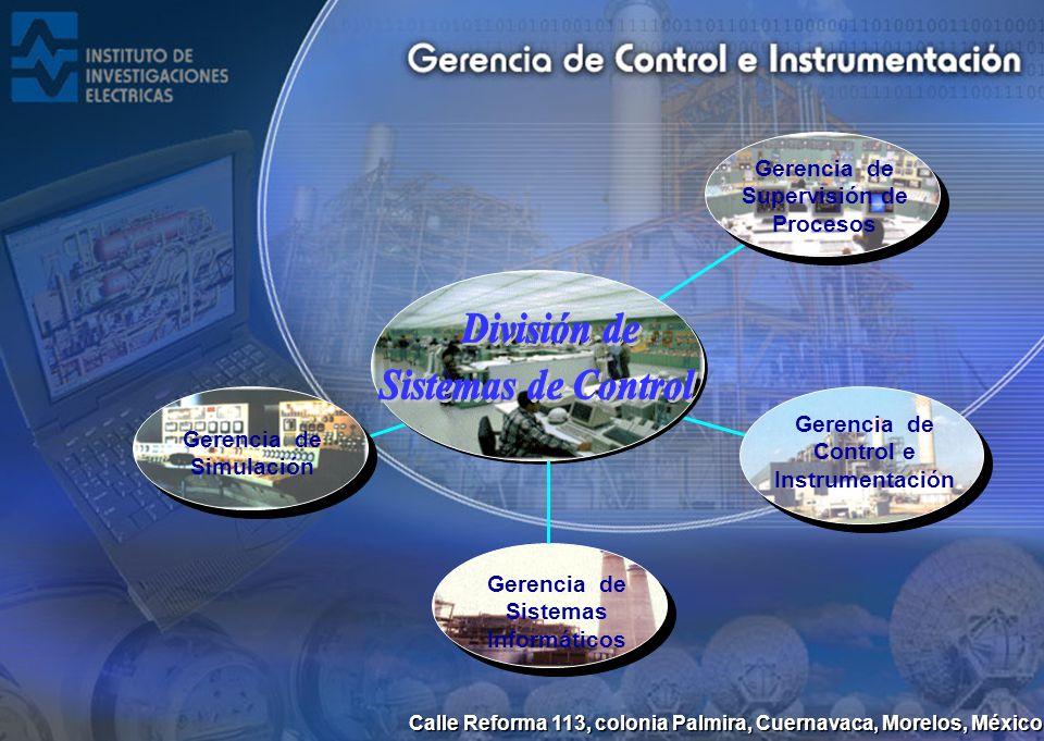 Calle Reforma 113, colonia Palmira, Cuernavaca, Morelos, México Gerencia de Control e Instrumentación Gerencia de Simulación Gerencia de Supervisión d