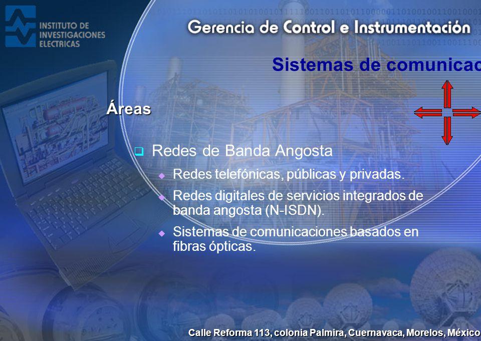 Calle Reforma 113, colonia Palmira, Cuernavaca, Morelos, México Redes de Banda Angosta Redes telefónicas, públicas y privadas. Redes digitales de serv
