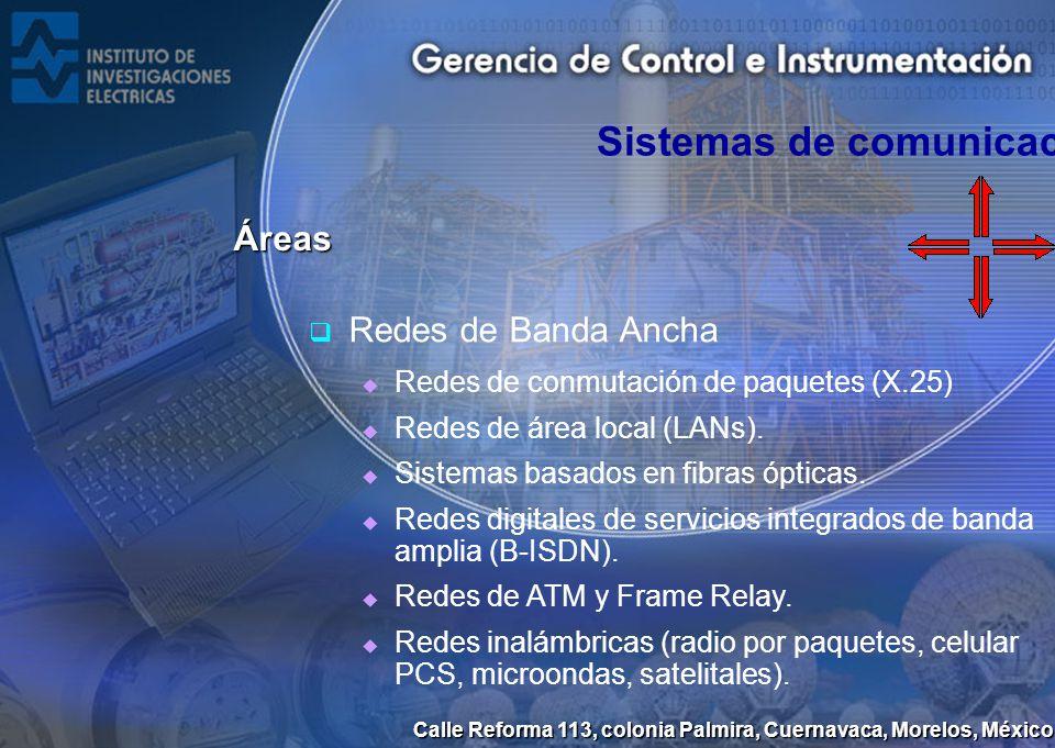 Calle Reforma 113, colonia Palmira, Cuernavaca, Morelos, México Redes de Banda Ancha Redes de conmutación de paquetes (X.25) Redes de área local (LANs