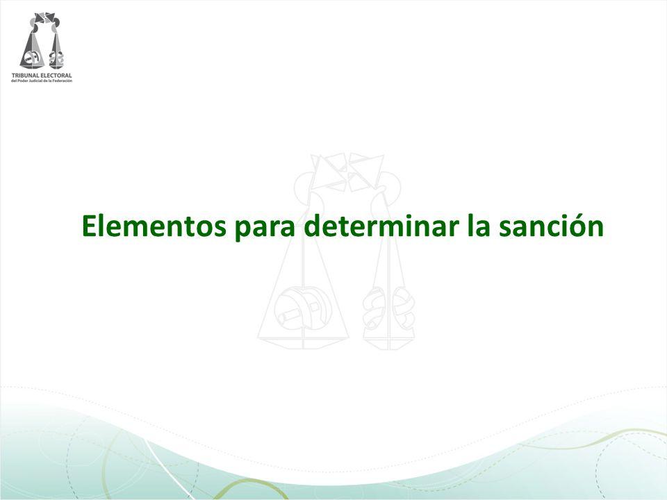 Elementos para determinar la sanción