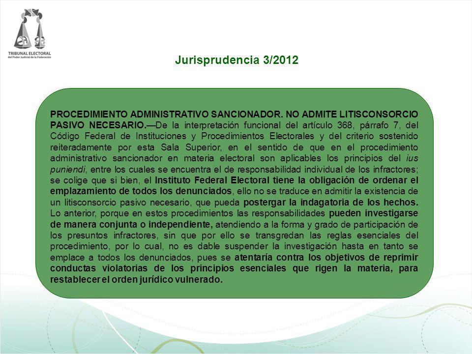 PROCEDIMIENTO ADMINISTRATIVO SANCIONADOR. NO ADMITE LITISCONSORCIO PASIVO NECESARIO.De la interpretación funcional del artículo 368, párrafo 7, del Có