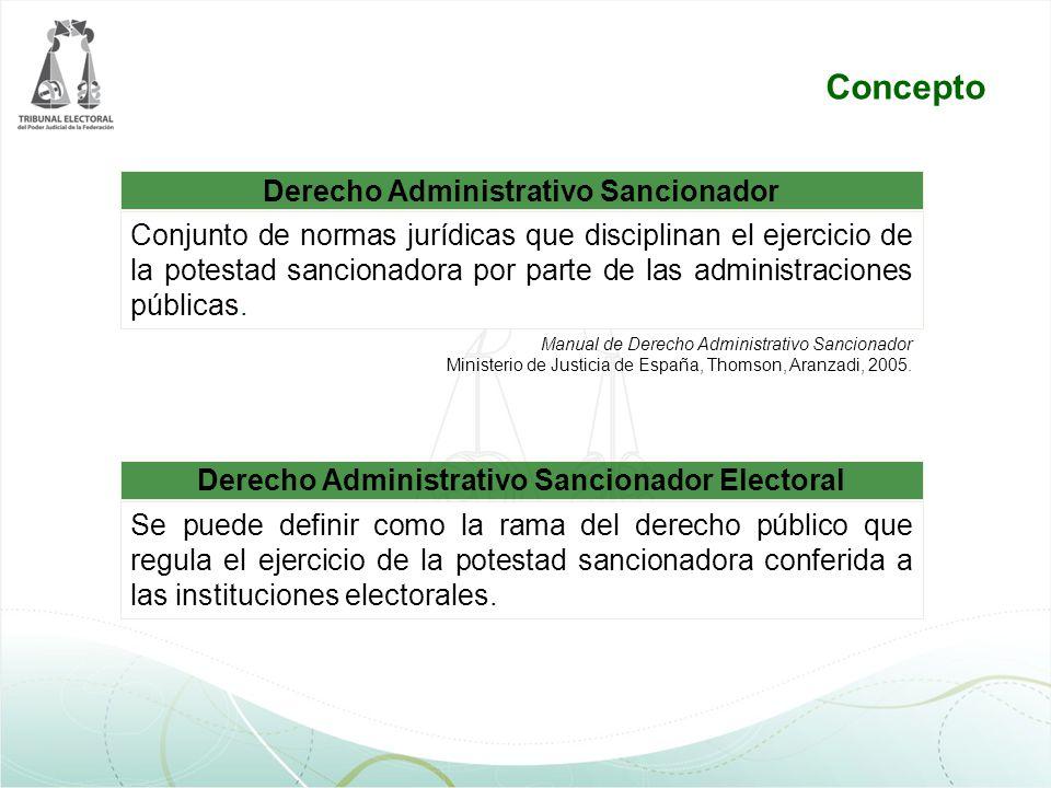 Derecho Administrativo Sancionador Manual de Derecho Administrativo Sancionador Ministerio de Justicia de España, Thomson, Aranzadi, 2005. Conjunto de