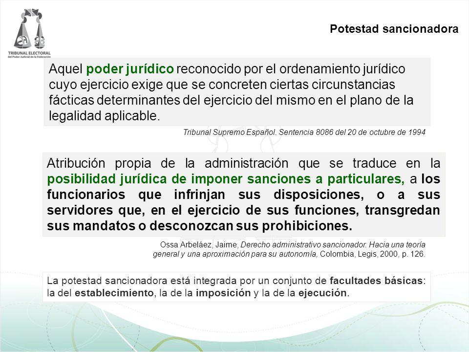 Aquel poder jurídico reconocido por el ordenamiento jurídico cuyo ejercicio exige que se concreten ciertas circunstancias fácticas determinantes del e