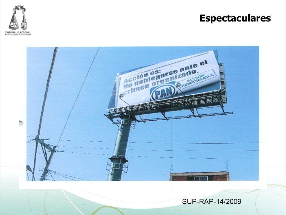 Espectaculares SUP-RAP-14/2009