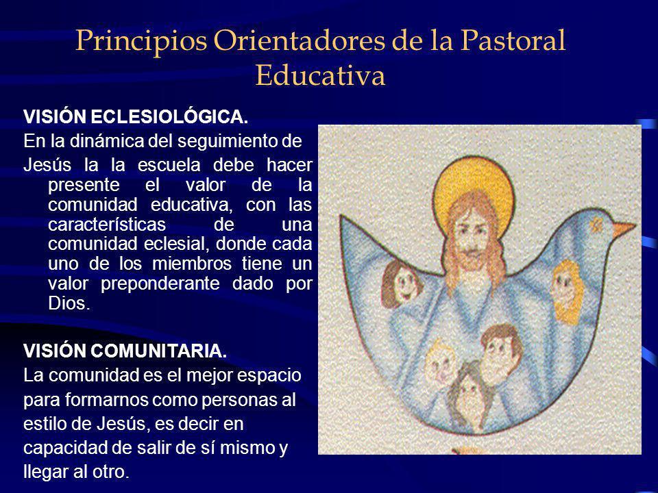 Principios Orientadores de la Pastoral Educativa Visión Antropológica del Hombre. Partimos de una visión de fe y por tanto de una concepción antropoló