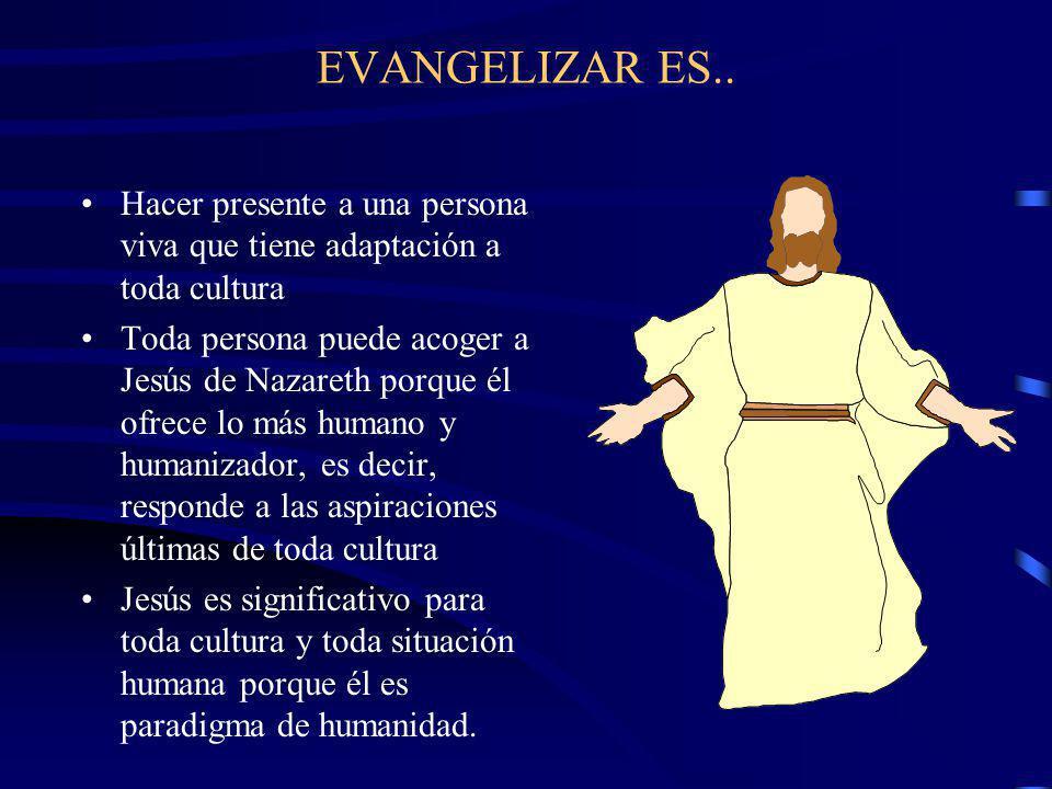 EVANGELIZAR LA CULTURA No es sólo transmitir un cuerpo de doctrinas religiosas o morales Ni únicamente una enseñanza de Jesús Evangelizar es también:
