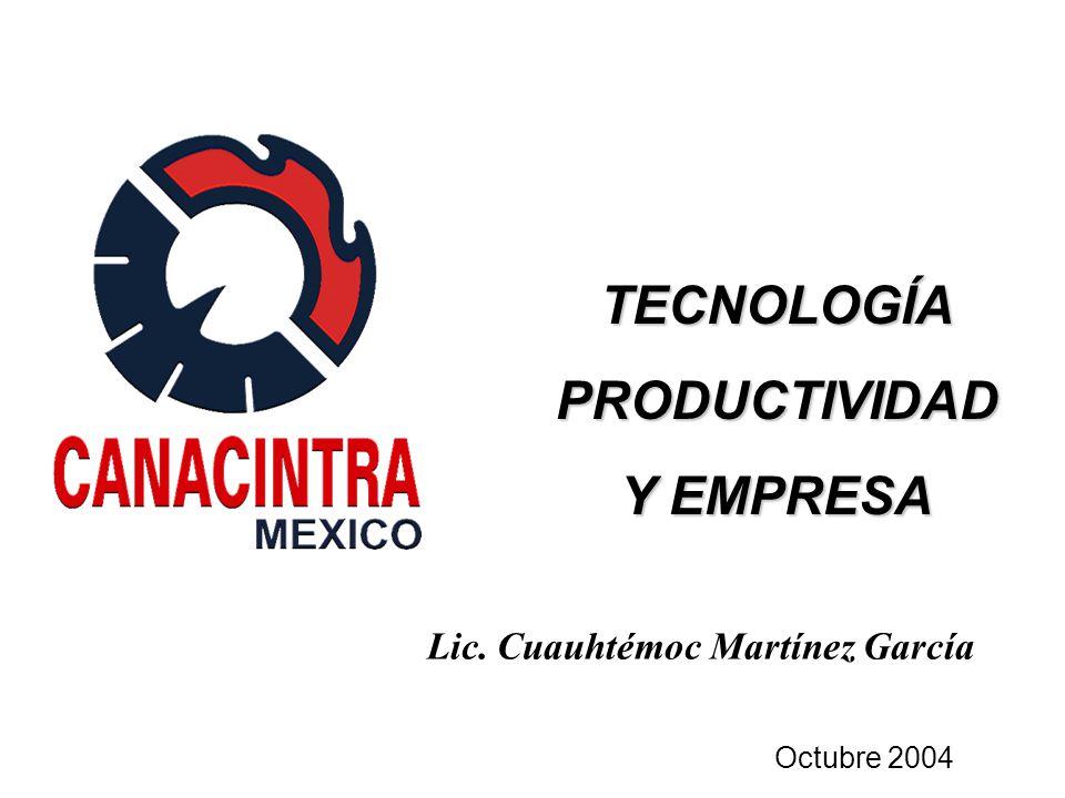 Lic. Cuauhtémoc Martínez García TECNOLOGÍAPRODUCTIVIDAD Y EMPRESA Octubre 2004