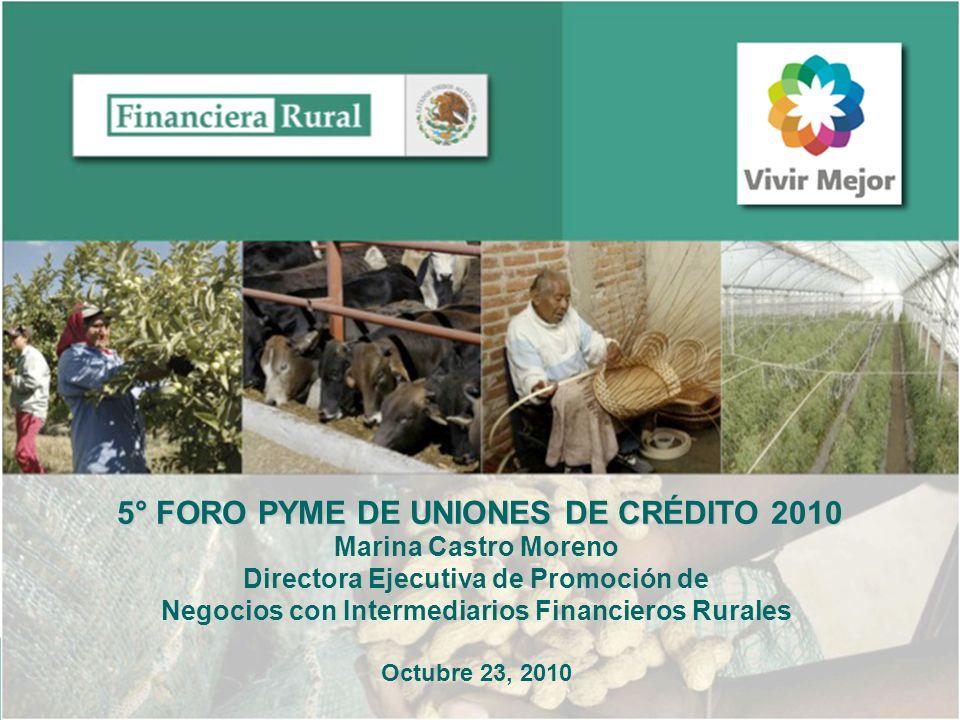22 MERCADO Operación de Primer Piso Crédito directo a los beneficiarios (personas físicas o morales).