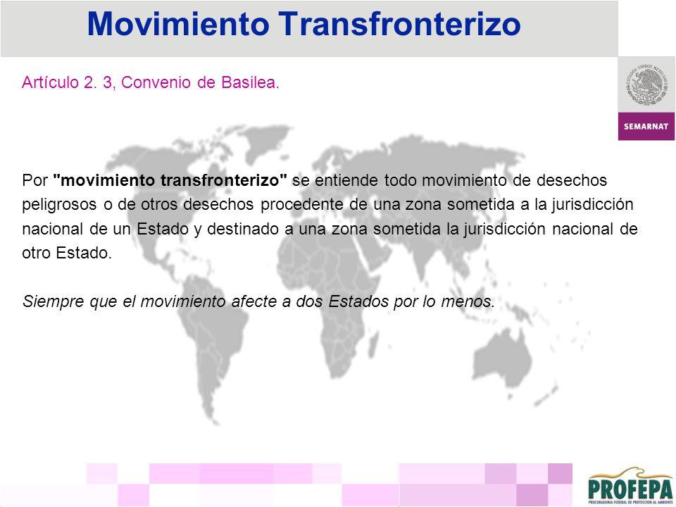 Convenio de Basilea sobre el Control de los Movimientos Transfronterizos de los Desechos Peligrosos y su Eliminación Estados signatarios: 172, Firmado el 22 de marzo de 1989, Fecha de entrada en vigor el 5 de mayo de 1992.