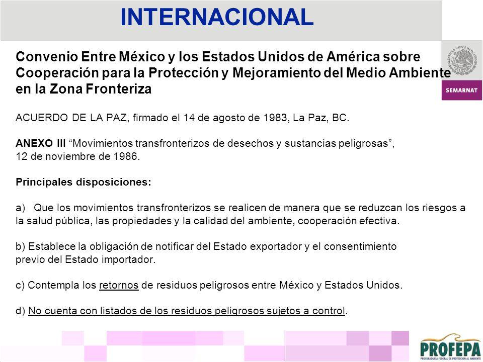 Convenio Entre México y los Estados Unidos de América sobre Cooperación para la Protección y Mejoramiento del Medio Ambiente en la Zona Fronteriza ACU