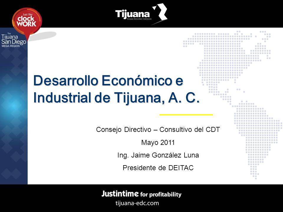Desarrollo Económico e Industrial de Tijuana, A. C. Consejo Directivo – Consultivo del CDT Mayo 2011 Ing. Jaime González Luna Presidente de DEITAC