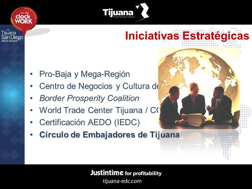 Iniciativas Estratégicas Pro-Baja y Mega-Región Centro de Negocios y Cultura de Asia Border Prosperity Coalition World Trade Center Tijuana / COMCE-BC