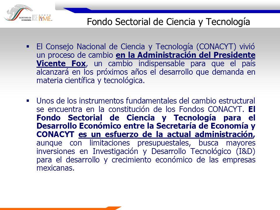 El Consejo Nacional de Ciencia y Tecnología (CONACYT) vivió un proceso de cambio en la Administración del Presidente Vicente Fox, un cambio indispensa