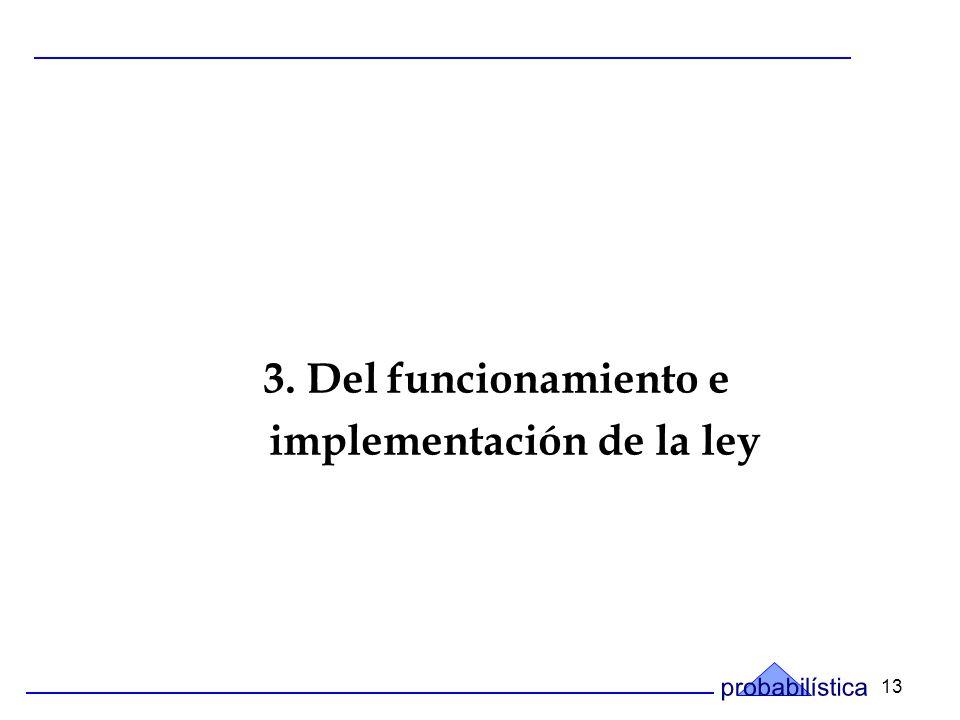 13 3. Del funcionamiento e implementación de la ley