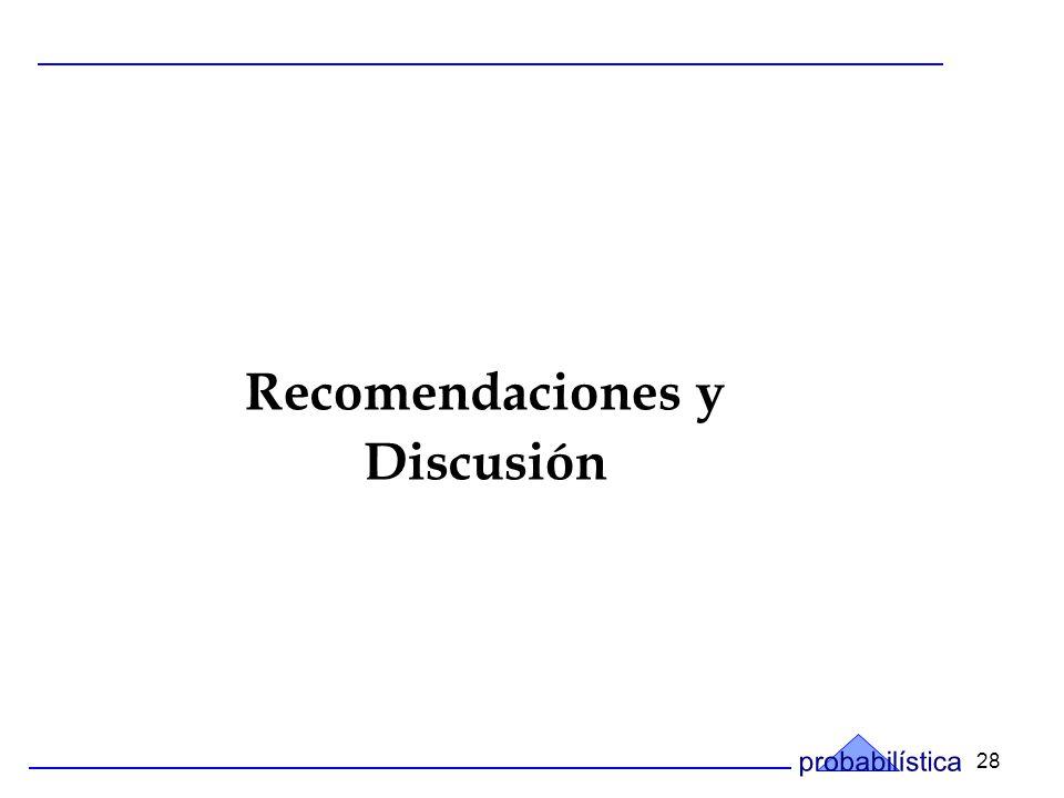28 Recomendaciones y Discusión