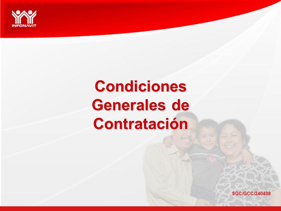 SGC/GCC/240408 Condiciones Generales de Contratación