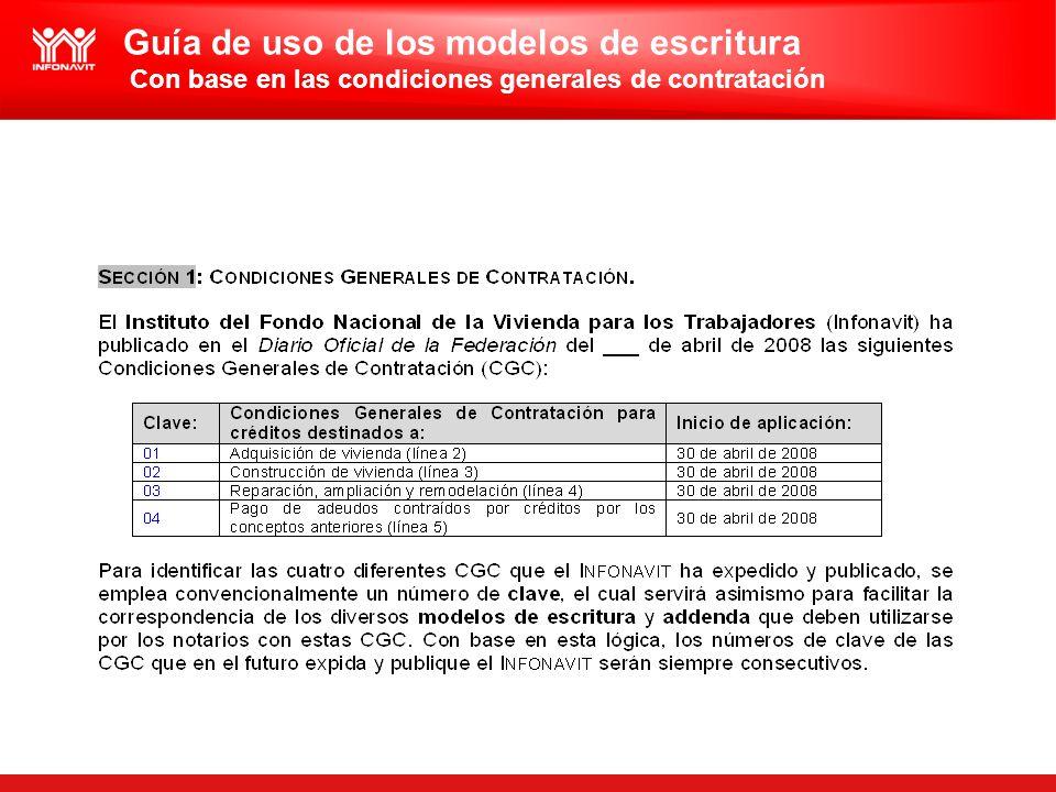 Guía de uso de los modelos de escritura Con base en las condiciones generales de contratación