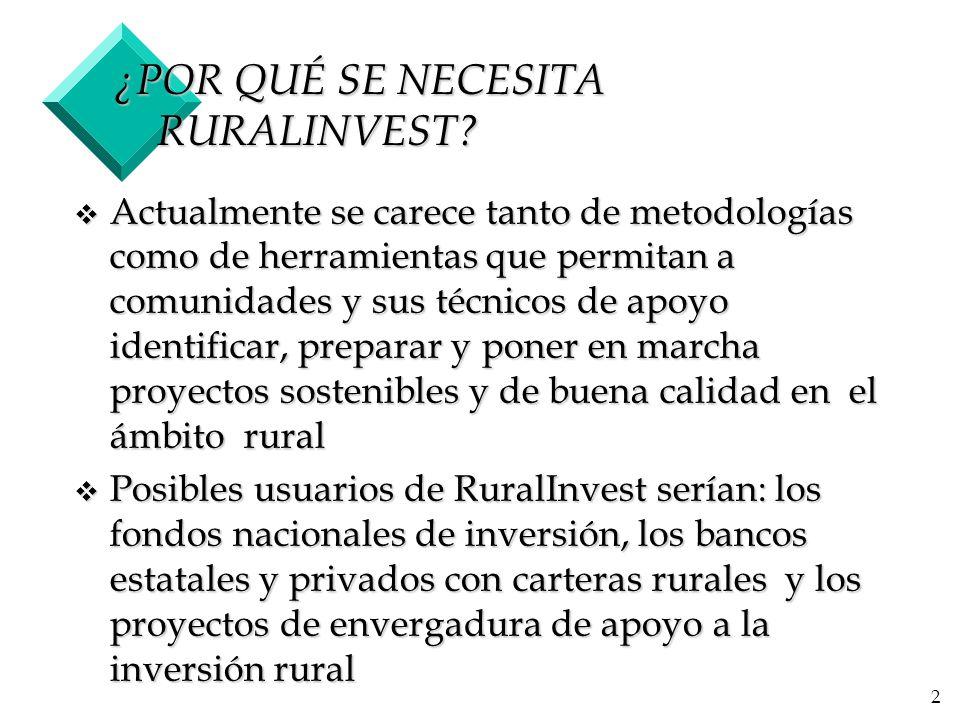 3 ¿QUÉ TIPOS DE INVERSIONES RURALES .