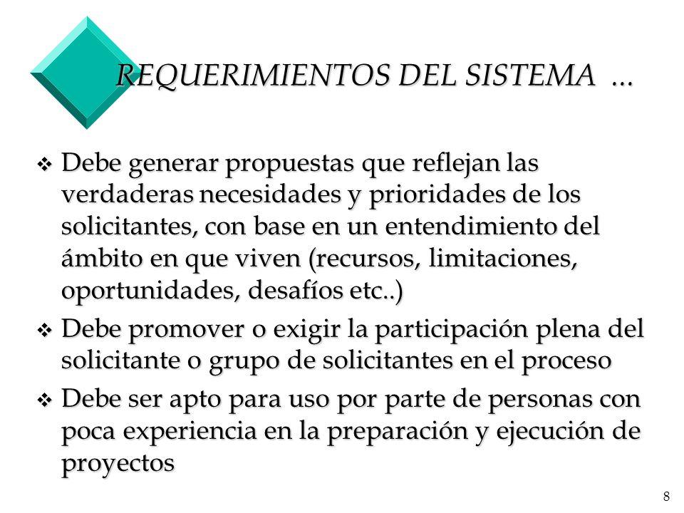 8 REQUERIMIENTOS DEL SISTEMA...