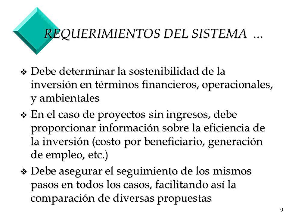 9 REQUERIMIENTOS DEL SISTEMA...