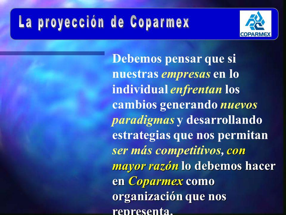 con mayor razón lo debemos hacer en Coparmex como organización que nos representa.