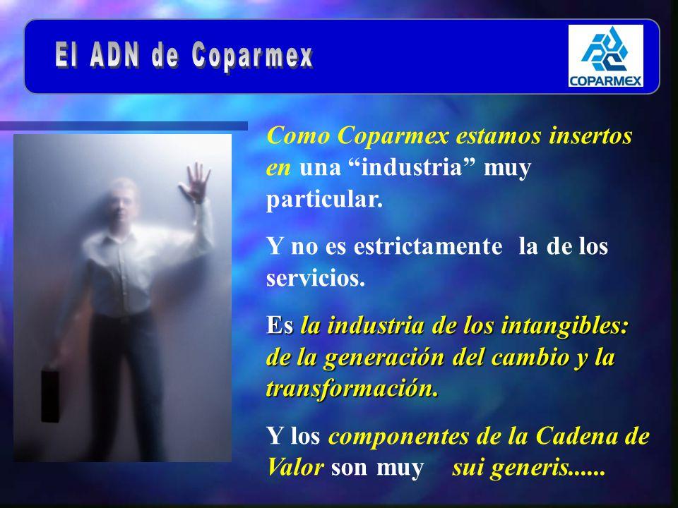 Como Coparmex estamos insertos en una industria muy particular.
