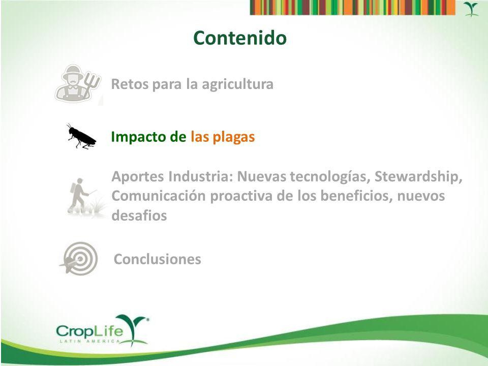 Fuente: Sociedade Brasileira de Defesa Agropecuária (SBDA), 2013 – Plagas Exóticas Mapa del peligro Las plagas Exóticas están por todas partes
