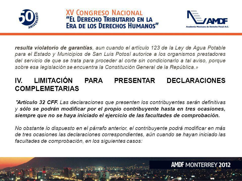 32 resulta violatorio de garantías, aun cuando el artículo 123 de la Ley de Agua Potable para el Estado y Municipios de San Luis Potosí autorice a los