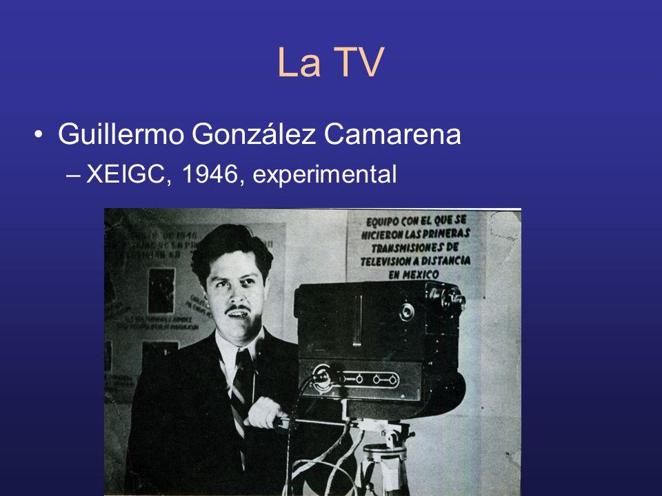 La TV Guillermo González Camarena –XEIGC, 1946, experimental