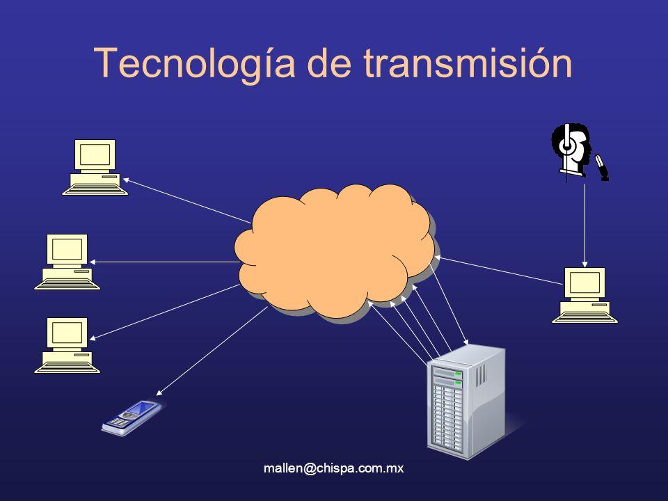 mallen@chispa.com.mx Tecnología de transmisión