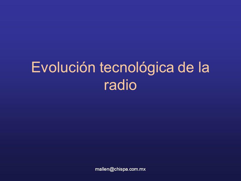 mallen@chispa.com.mx Evolución tecnológica de la radio
