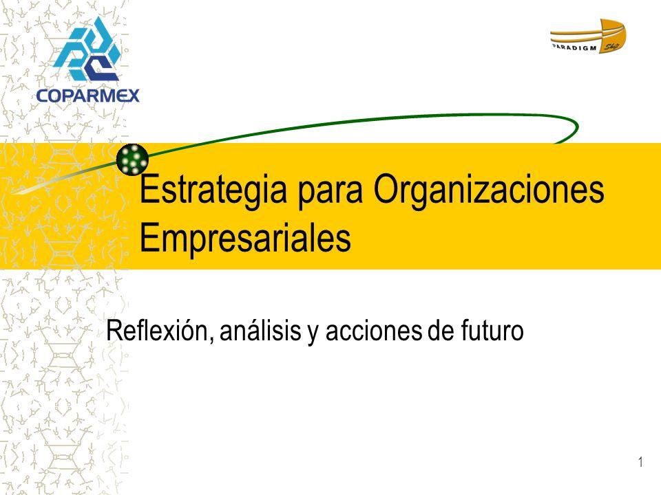 Estrategia para Organizaciones Empresariales Reflexión, análisis y acciones de futuro 1