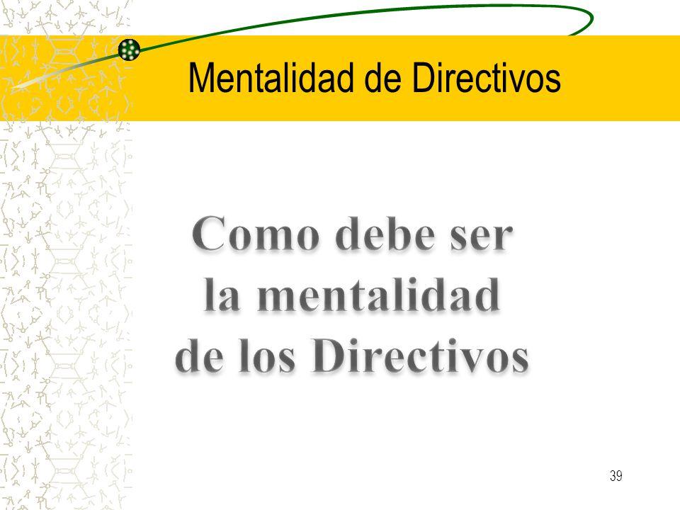 Mentalidad de Directivos 39