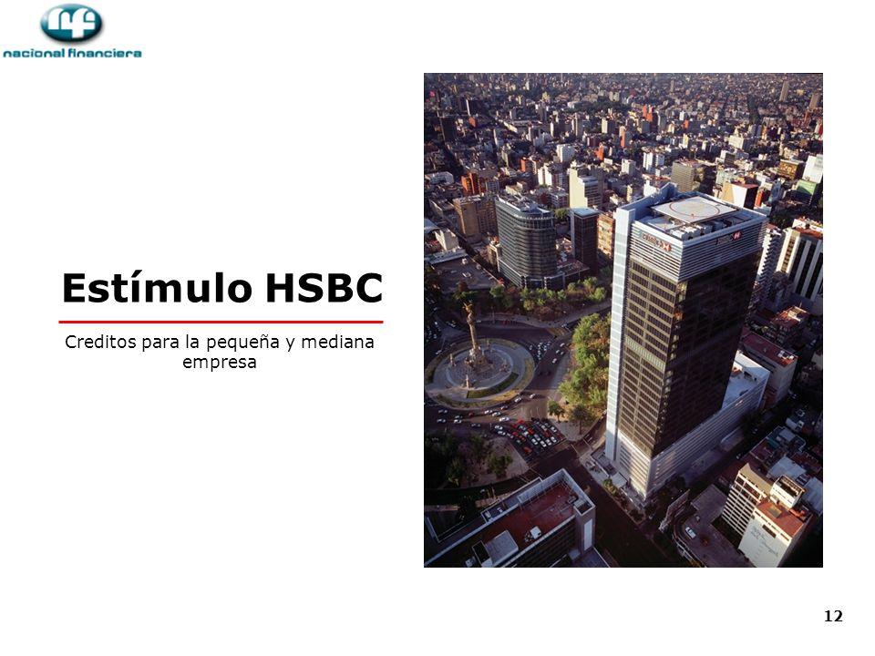 12 Estímulo HSBC Creditos para la pequeña y mediana empresa