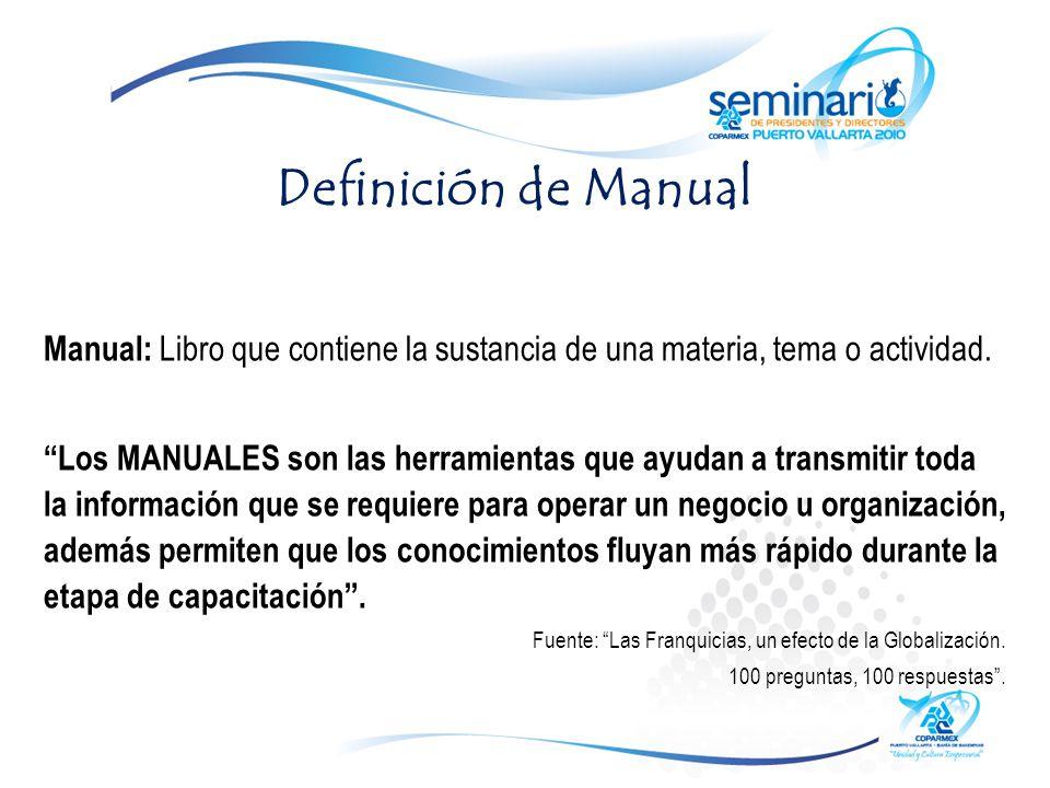 Definición de Manual Manual: Libro que contiene la sustancia de una materia, tema o actividad.