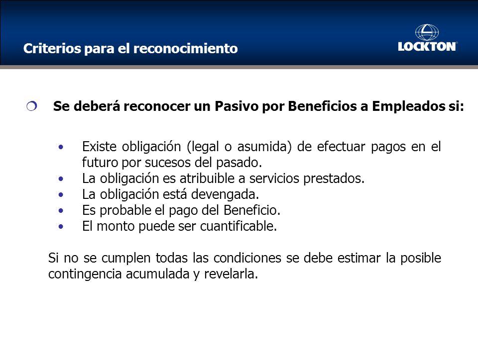 Existe obligación (legal o asumida) de efectuar pagos en el futuro por sucesos del pasado.