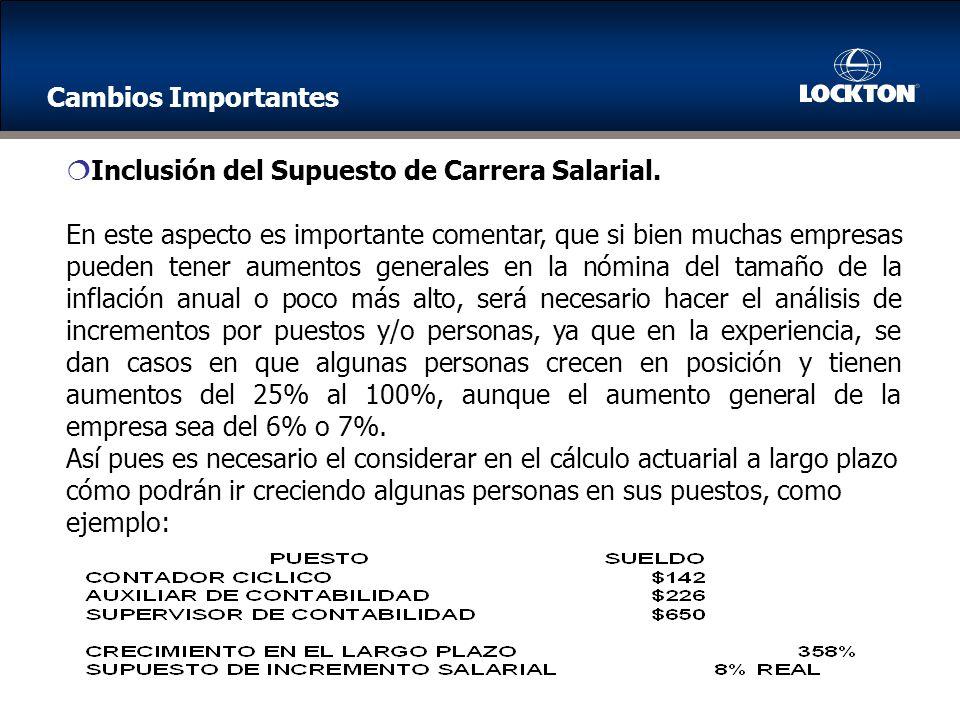 Inclusión del Supuesto de Carrera Salarial.